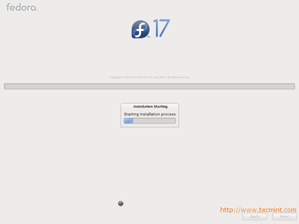 Fedora 17 Installation Process