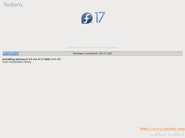 Fedora 17 Installation Progress