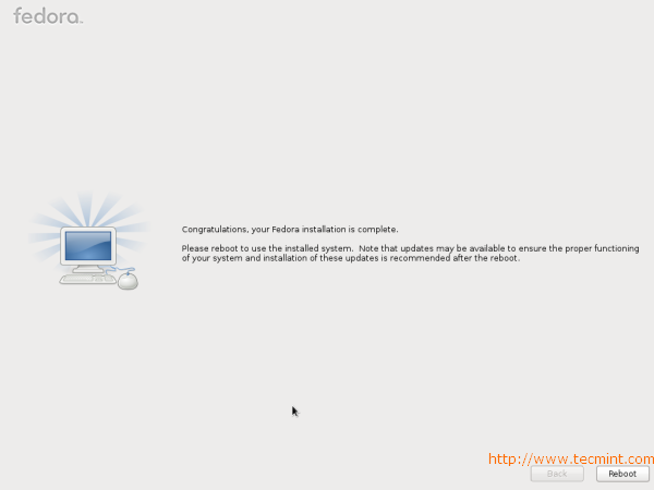 Fedora 17 installation Completed