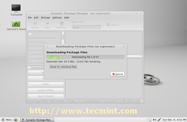 xfce packages downloading