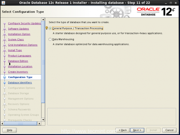 Oracle配置类型