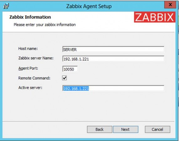 在Windows上安装Zabbix Agent