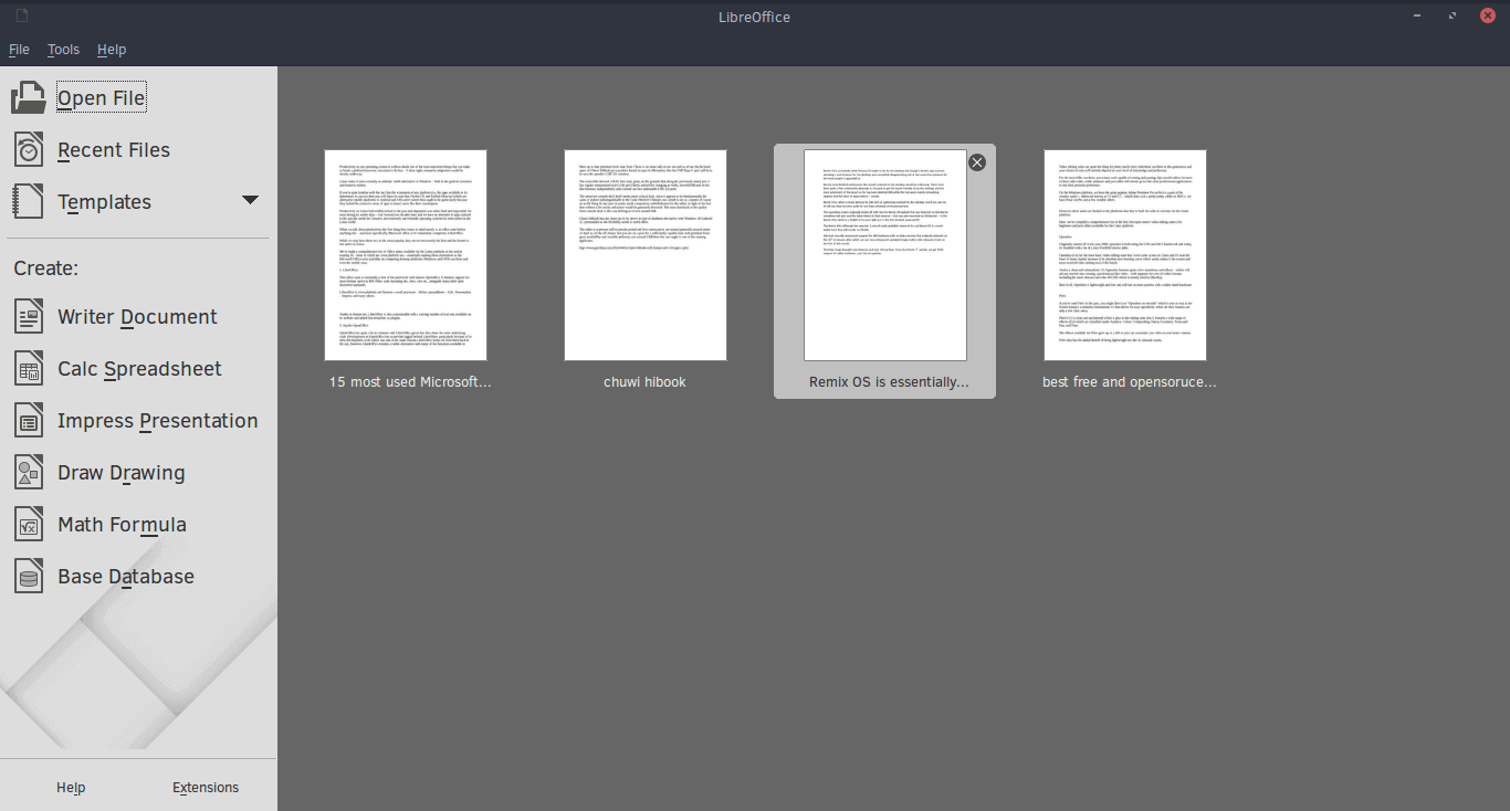 Libreoffice for Linux