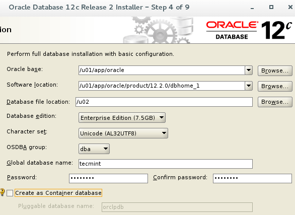 Oracle 12c基本配置