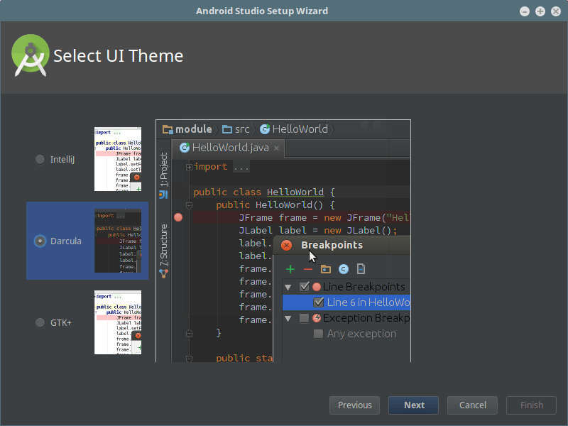 Android Studio UI主题