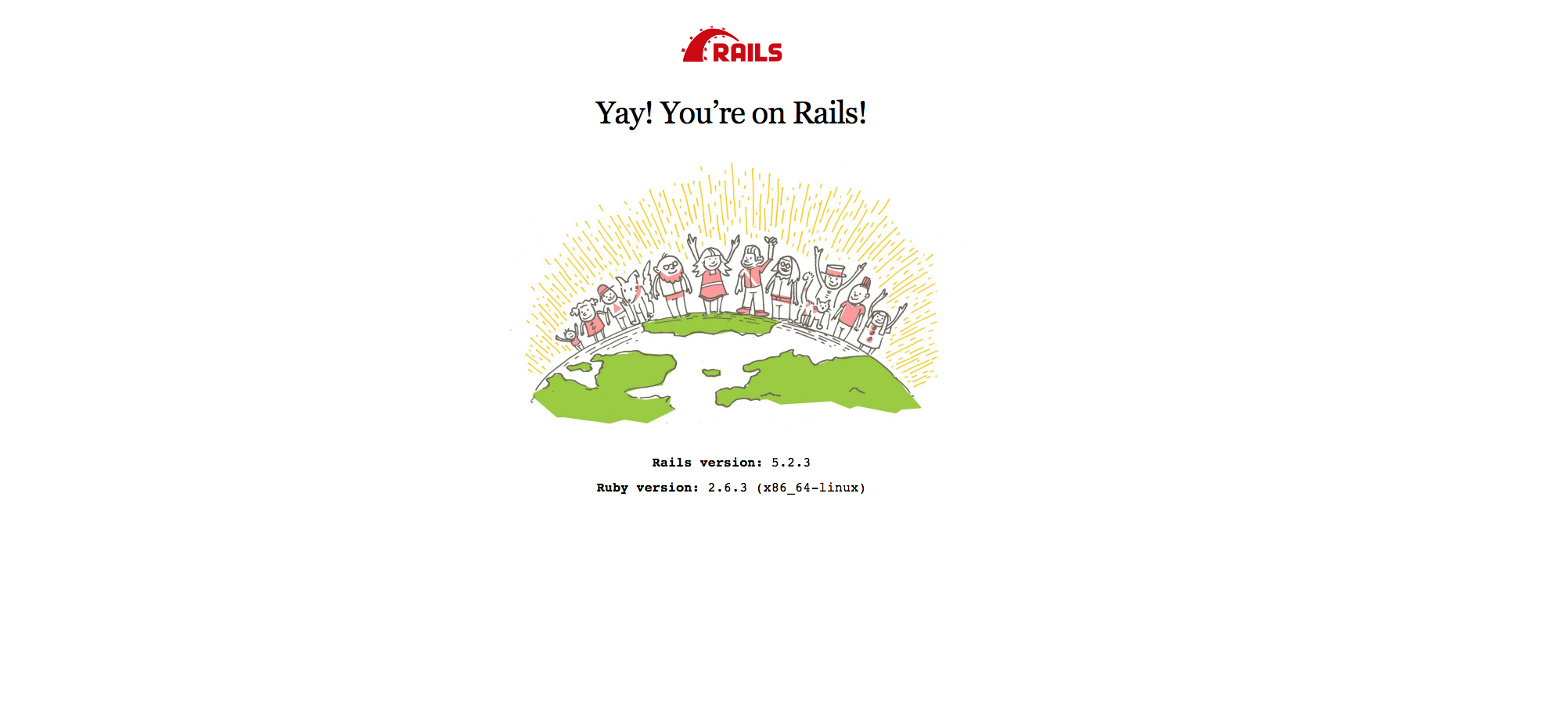Ruby on Rails欢迎页面
