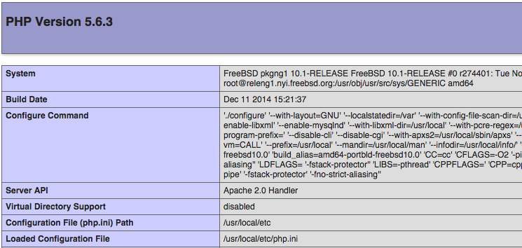 FreeBSD info.php