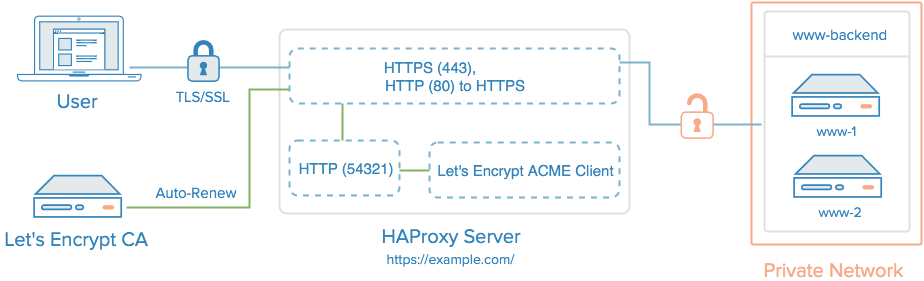 HAProxy with Let's加密TLS / SSL证书和自动更新