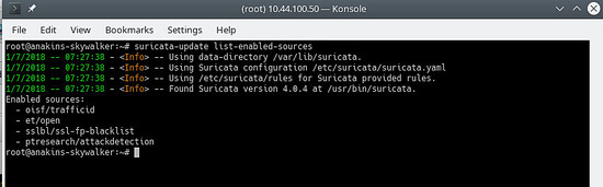 suricata-update list-enabled-sources